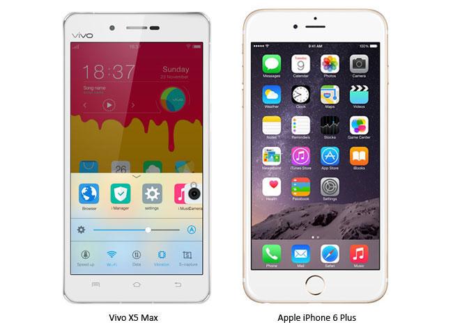 So sánh giữa smartphone siêu mỏng Vivo X5 và Iphone 6 Plus