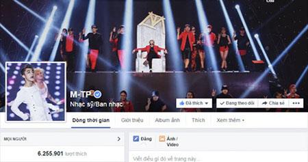 Nam ca sĩ sở hữu lượng fan hùng hậu trên fanpage chính thức