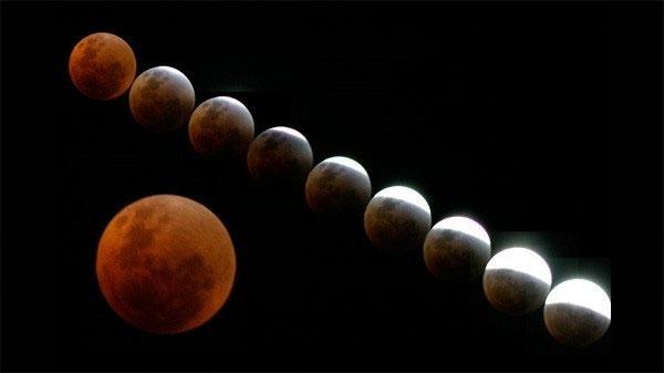 Sự kiện thiên văn xuất hiện Mặt Trăng máu kỳ lạ