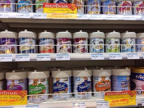 Nhiều sản phẩm sữa bột trẻ em dưới 6 tuổi giảm giá mạnh