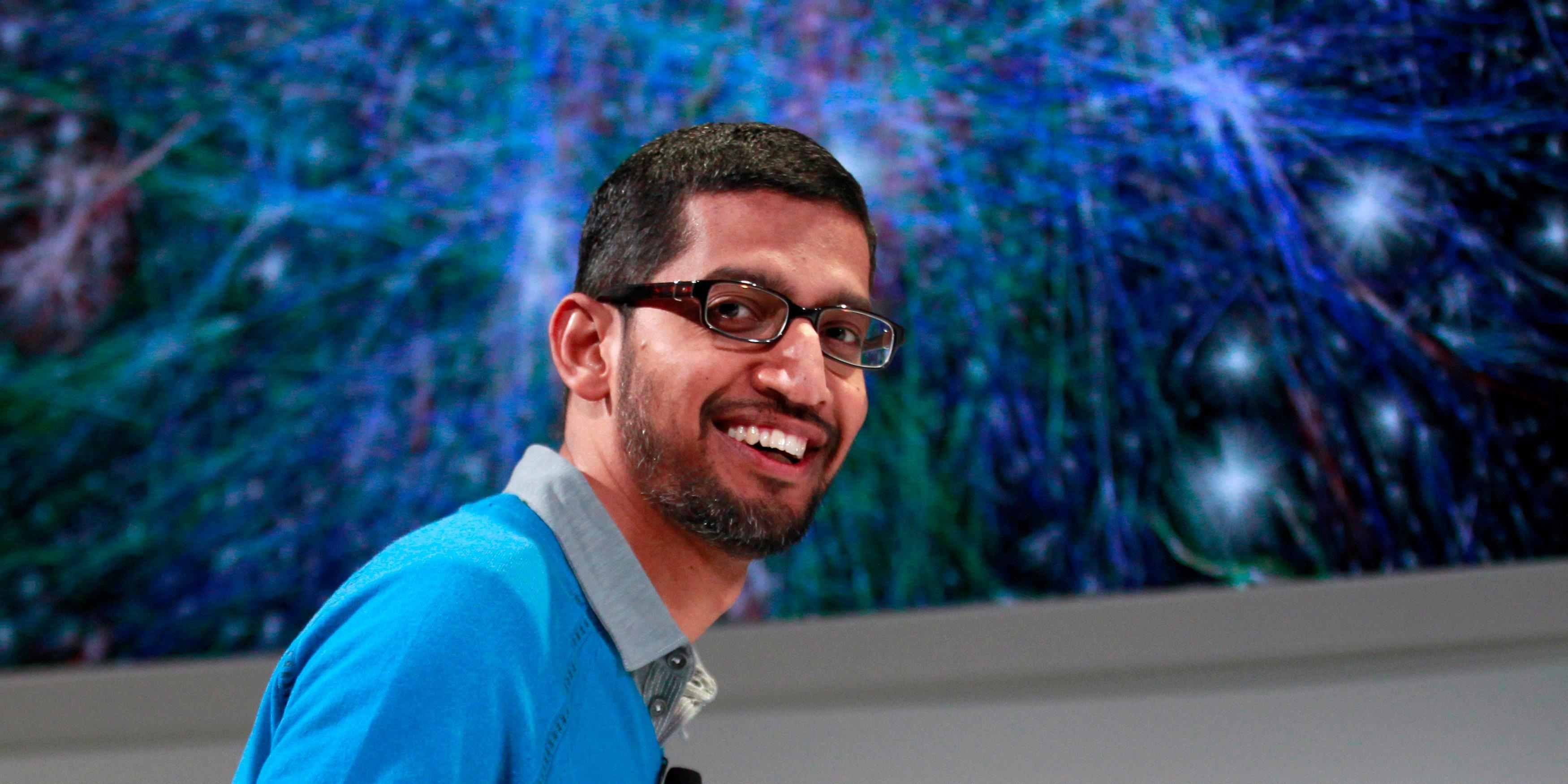 Chân dung vị CEO gốc Ấn của Google. Ảnh: Reuters