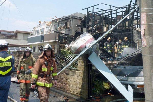Hiện trường vụ tai nạn máy bay nghiêm trọng tại Nhật Bản