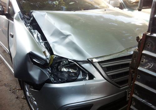Thượng úy công an gây tai nạn giao thông rồi bỏ chạy