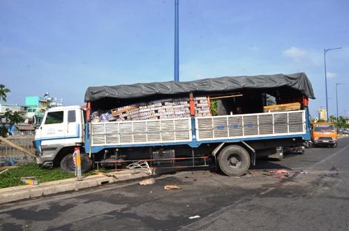 Hiện trường vụ tai nạn giao thông tại Tp. HCM