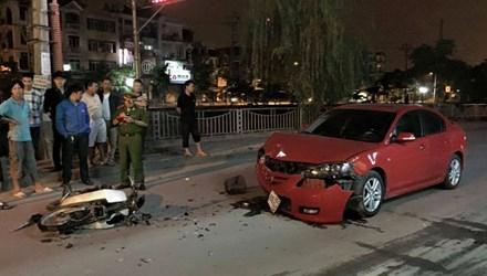Hiện trường vụ tai nạn giao thông đêm qua tại Khương Đình, Hà Nội