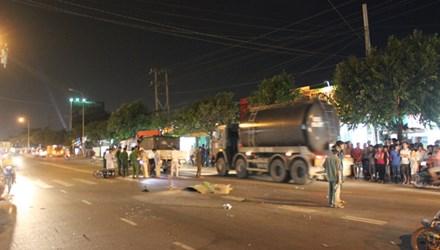 Hiện trường tai nạn giao thông khiến một người tử vong