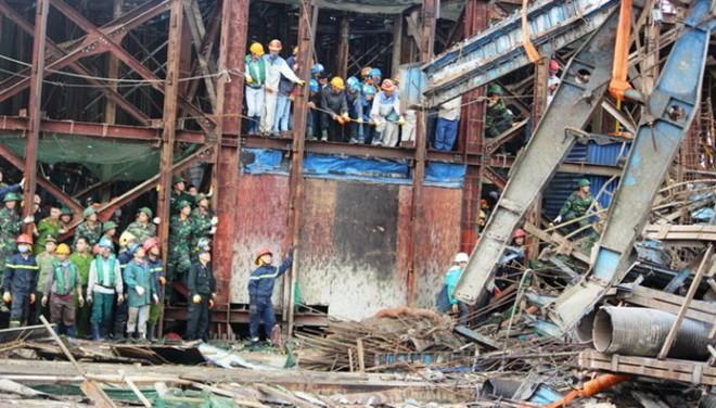Cơ quan điều tra đang gấp rút làm rõ nguyên nhân vụ tai nạn giàn giáo ở dự án Formosa Hà Tĩnh