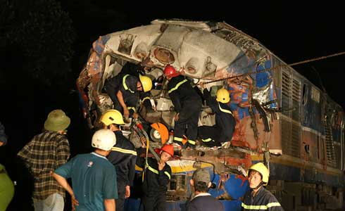 Hiện trường thảm khốc nơi lái tàu Lê Minh Phú tử nạn