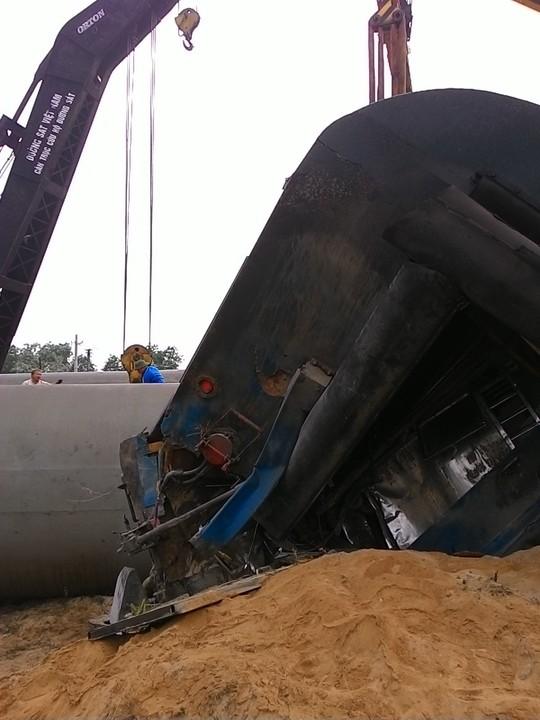 Cận cảnh toa tàu sau vụ tai nạn kinh hoàng