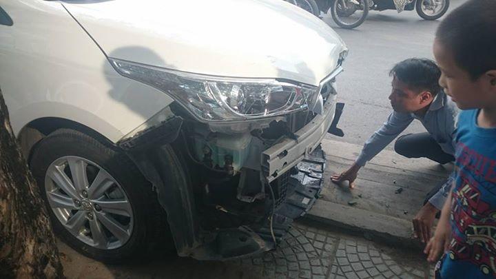Chiếc xe được cứu hộ đưa về cơ quan chức năng