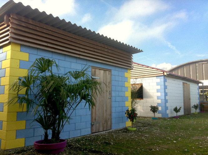 Dù được xây dựng từ gạch vụn nhưng ngôi nhà này hoàn toàn đáp ứng các tiêu chuẩn về chất lượng thi công công trình