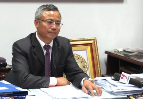 Ông Nguyễn Đăng Chương trong buổi trao đổi với báo chí