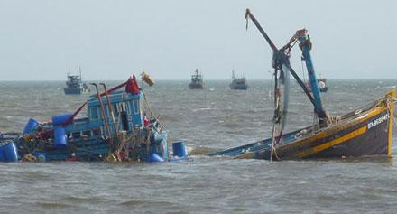 Vụ việc khiến tàu cá bị đâm chìm nghỉm, một ngư dân mất tích