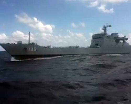 Tàu chiến 995 của Trung Quốc được cho là chĩa súng đe dọa tàu Việt Nam