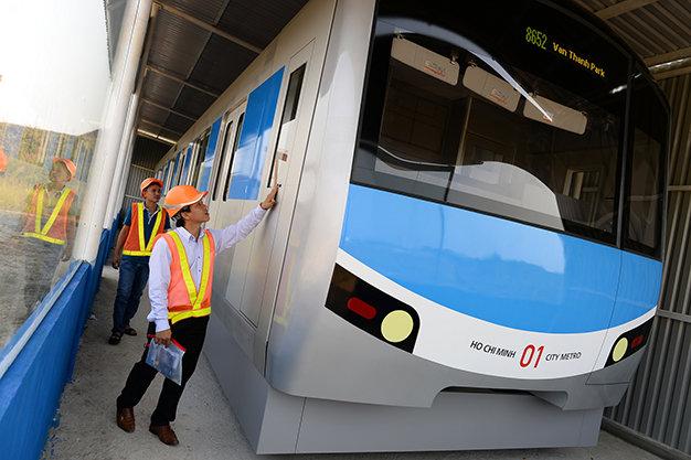 Tuyến tàu Metro số 1 dự kiến sẽ được vận hành vào năm 2017