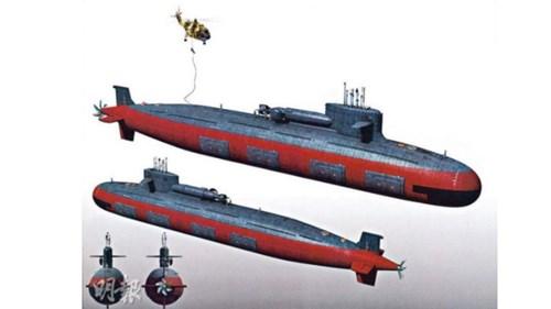 Hình ảnh mô phỏng về tàu ngầm hạt nhân mới nhất của Trung Quốc cho thấy đây là vũ khí quân sự rất hiện đại