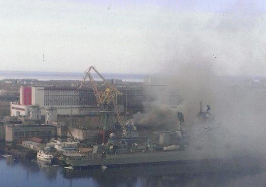 Hồi năm ngoái cũng từng xảy ra vụ việc một tàu ngầm hạt nhân bị cháy ở Nga