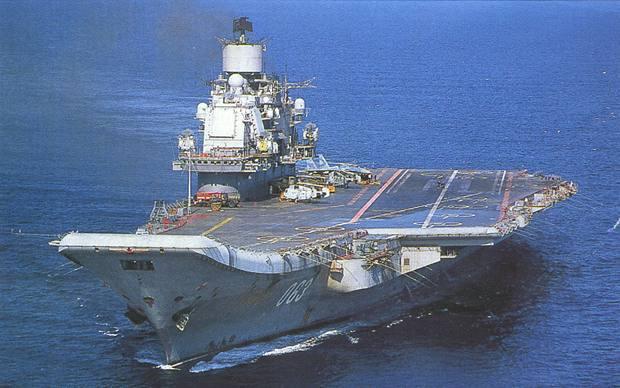 Tàu sân bay Đô đốc Kuznetsov là hàng không mẫu hạm duy nhất của Nga đang hoạt động
