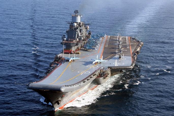 Tàu sân bay Đô đốc Kuznetsov của Nga sẽ đến Syria để tham gia chiến đấu chống khủng bố IS
