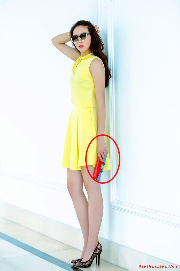 Hoa hậu Kỳ Duyên bị mất hẳn ngón tay cái dù cầm ví