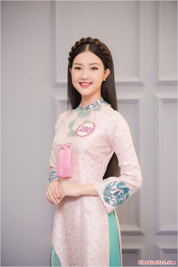 Gương mặt hài hòa của Ngọc Trân được nhận xét là ứng viên tiềm năng cho vương miện Hoa hậu năm nay.