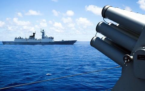 Hải quân Trung Quốc tập trận ở Biển Đông. Ảnh AFP