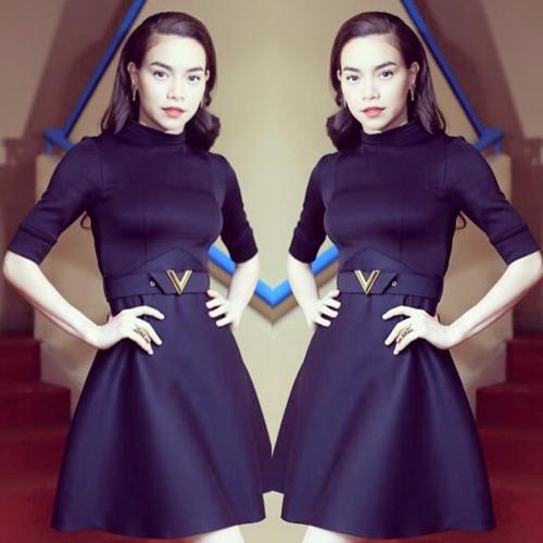 Thay vì lựa chọn những món đồ giá rẻ như xưa thì bây giờ cô luôn ưu tiên hàng hiệu hoặc có chăng là trang phục thiết kế của Lý Quí Khánh.