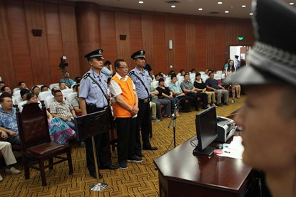 Một phiên tòa xét xử quan chức tham nhũng tại Trung Quốc