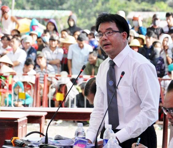 Luật sư Nguyễn Quốc Anh - Đoàn luật sư TP.HCM, bào chữa cho bị cáo Trần Đình Thoại