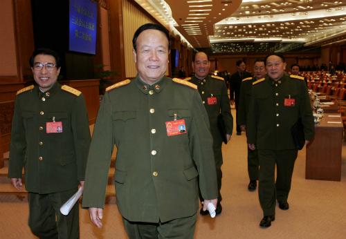 Tướng Quách Bá Hùng (giữa) có khả năng sẽ bị điều tra vì tội danh tham nhũng Trung Quốc vì những bê bối của con trai. Ảnh SCMP