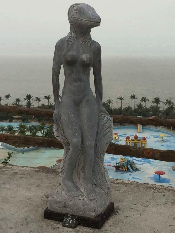 Vườn tượng 'khỏa thân' ở Hải Phòng, dư luận dậy sóng vì hình ảnh 'phản cảm'