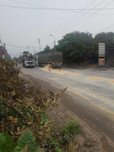 Xe chở ngô bị đổ và hành động bất ngờ của CSGT Quảng Ninh