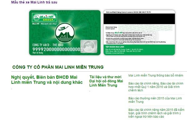 thẻ Mai Linh trả sau (MCC)