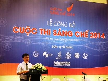 Ông Tạ Quang Minh, Cục trưởng Cục Sở hữu trí tuệ công bố Thể lệ Cuộc thi