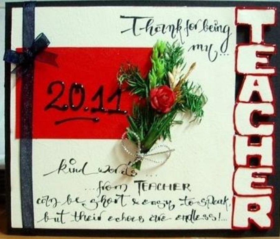 Thiệp đẹp 20/11 handmade dành tặng thầy cô giáo 4