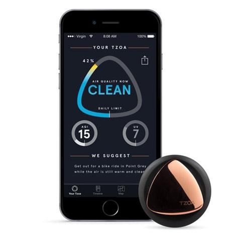 TZOA là một thiết bị thông minh giúp cảnh báo chất lượng không khí
