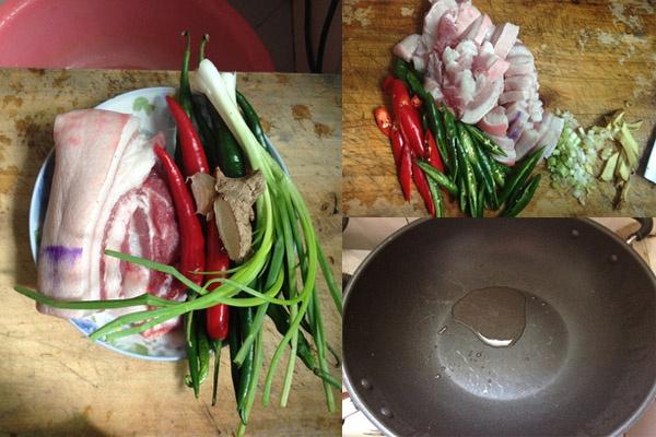 Thịt ba chỉ xào cay có cách làm vô cùng đơn giản