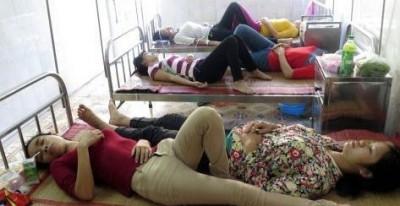 Dòi bò lổm ngổm trong xuất ăn, 54 công nhân giầy Amara nhập viện