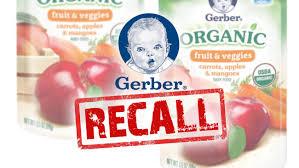 Công ty Gerber ở Mỹ (thuộc Tập đoàn Nestle) đang phải thu hồi một số dòng sản phẩm