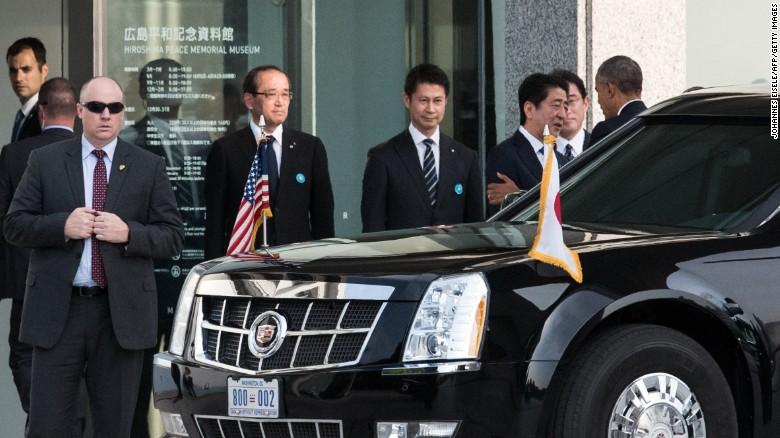 Để bảo vệ cho chuyến đi của ông Obama, công tác an ninh được đặt ở mức cao.