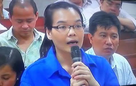Huỳnh Thị Huyền Như tại tòa ngày 23 tháng 5