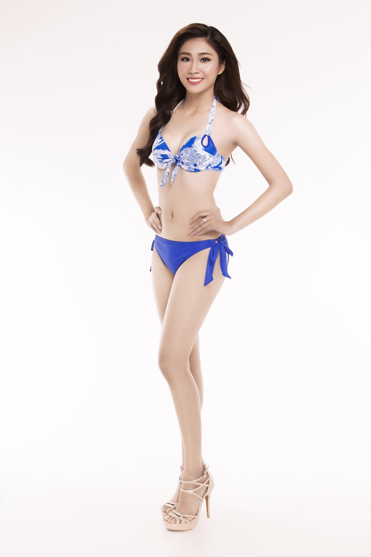 Cô cao 1m68, nặng 49kg và số đo 3 vòng là:83/63/88.