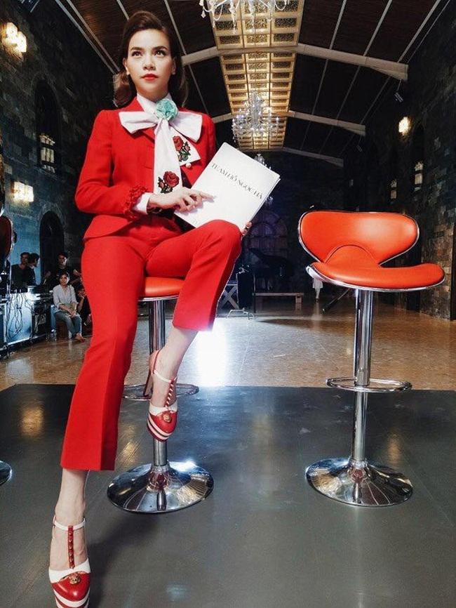 Mới ghi hình tập 1 The Face, Hà Hồ đã chi hơn 100 triệu cho trang phục Gucci.