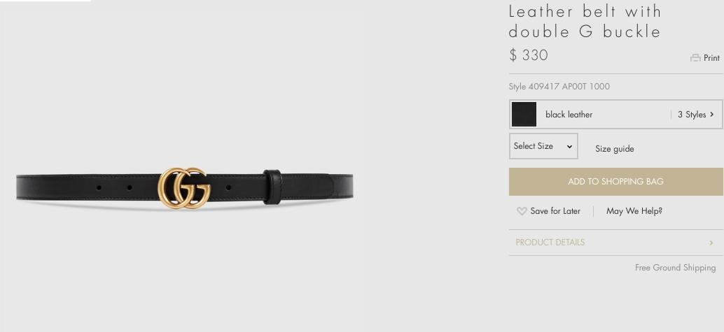 Món đồ có giá trị thấp nhất trong bộ trang phục, chính là chiếc hắt lưng da tinh tế có giá 330 USD (khoảng 7 triệu đồng).