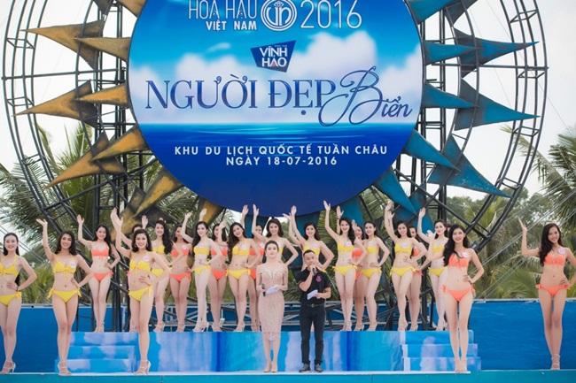 """Ngay sau đêm Chung khảo phía Bắc, 36 thí sinh vào vòng Chung kết toàn quốc chính thức bước vào phần thi """"Người đẹp biển"""". Đây là hoạt động đầu tiên trên hành trình chinh phục vương miện của 36 thí sinh cả nước."""