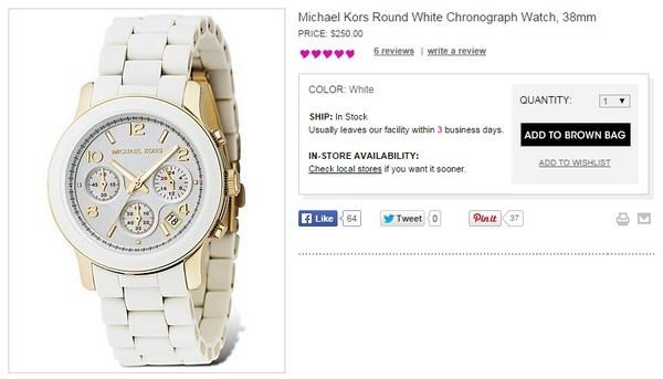 Giá chính hãng của chiếc đồng hồ này là 250$ (hơn 5 triệu đồng).