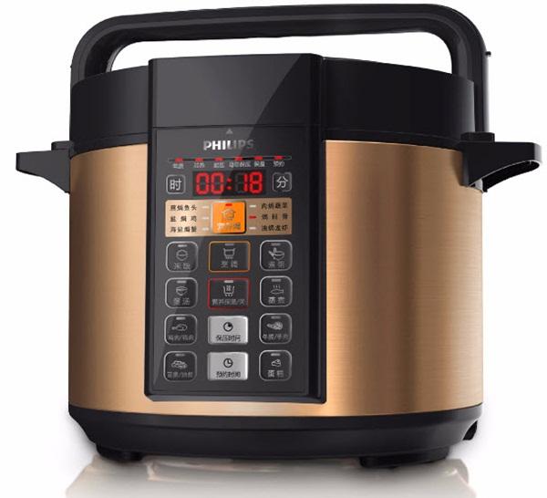 3. Nồi áp suất điện. Nồi áp suất có chức năng nấu cơm, nấu súp, hâm nóng, hầm thức ăn. Bạn có thể chế biến được nhiều món ăn khác nhau mà không phải sử dụng quá nhiều loại nồi, giúp tiết kiệm chi phí và không gian bếp của gia đình sẽ trở nên gọn gàng hơn.