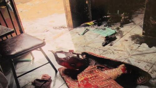 Nhiều đồ dùng trong nhà bị cháy nham nhở sau âm mưu thiêu sống cả nhà hàng xóm của đối tượng Phước