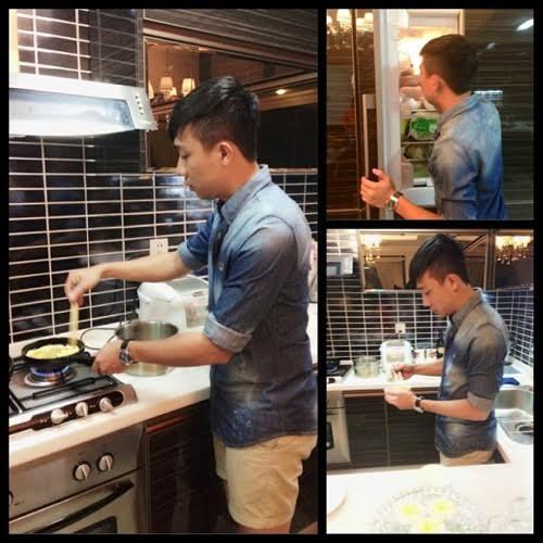 3. Rời khỏi công việc, Trấn Thành đảm đang trổ tài nấu nướng cho bạn gái của mình