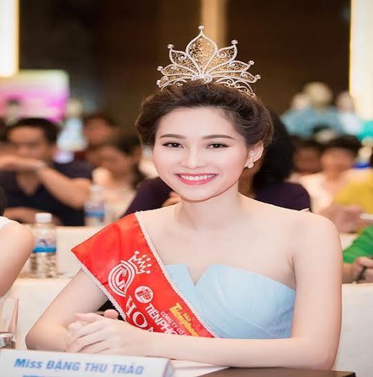 Từ khi đăng quang ngôi vị cao nhất Hoa hậu VN năm 2012 đến nay, gương mặt Thu Thảo với các nét đẹp rạng ngời vẫn nguyên vẹn, không hề thay đổi.